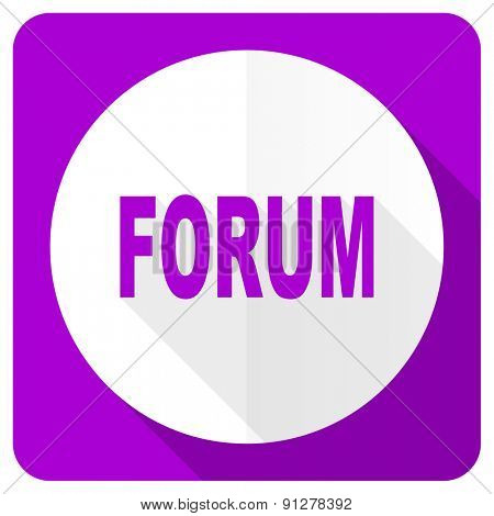 forum pink flat icon