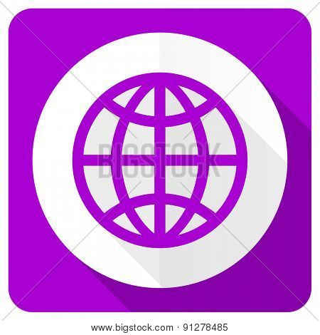 earth pink flat icon