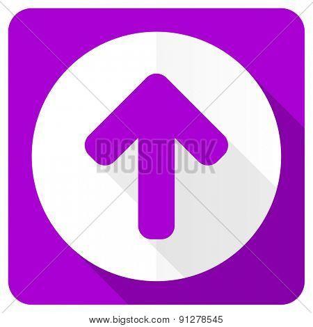 up arrow pink flat icon arrow sign