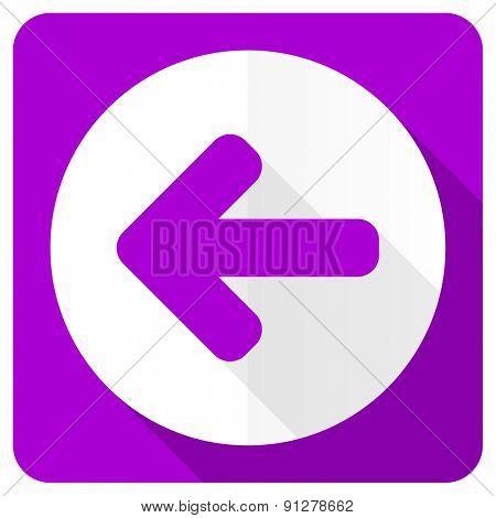left arrow pink flat icon arrow sign