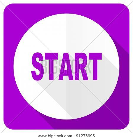 start pink flat icon
