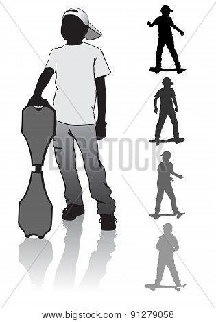 Boy Skate Board