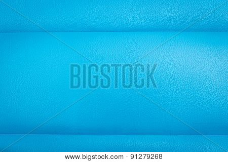 Blue Leather Texture And Background