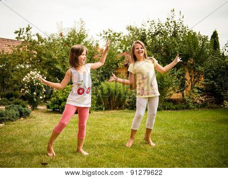Happy childhood - dancing children
