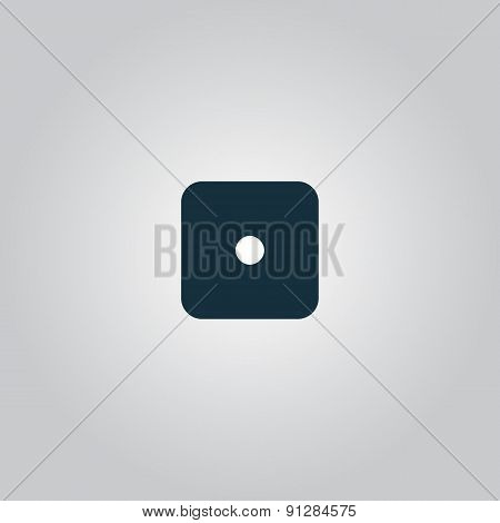 Vector illustration of one dices - side with 1