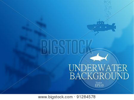 Blurred underwater background