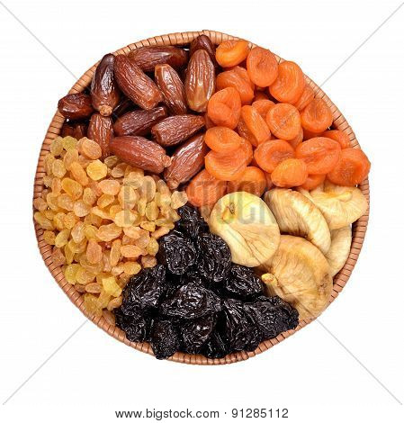 Various Dried Fruits In Bowl
