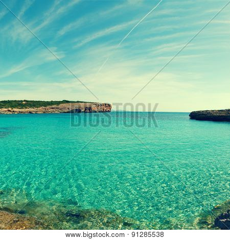 blue lagoon Comino island Malta Gozo, Toned photo
