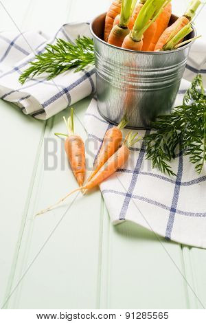 Carrots On Wooden Table