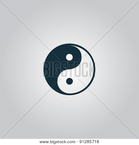 Ying-yang icon of harmony and balance