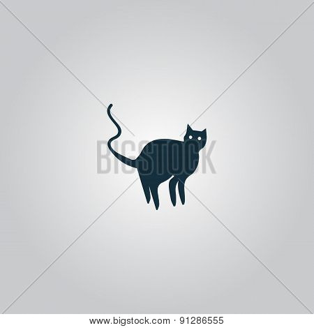 Evil Cat silhouette, vector