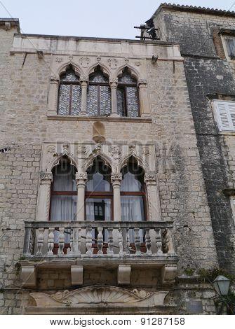 A palace in Trogir in Croatia