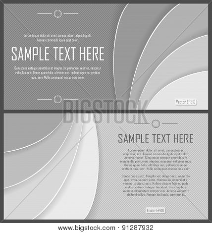 Set of grey abstract flyers
