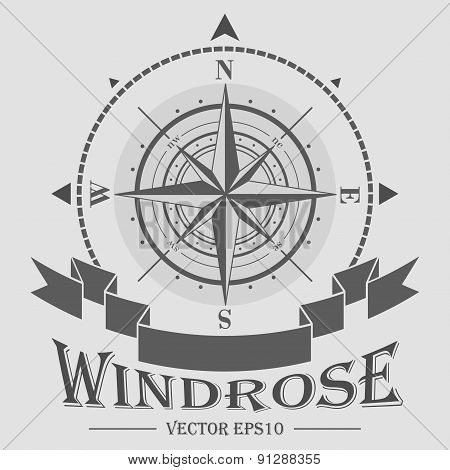 Corporate logo with compass rose