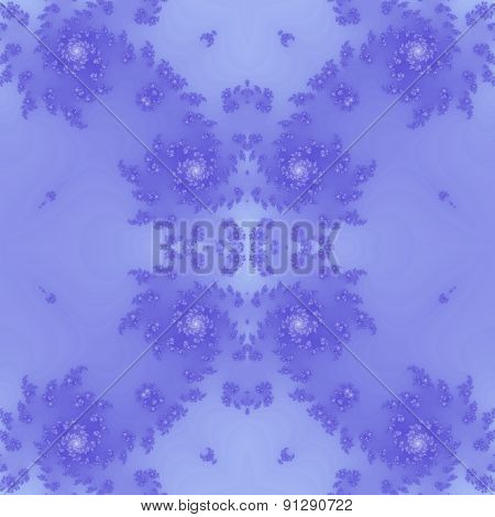 Seamless Fractal Pattern In Blue