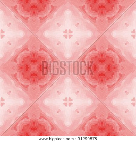 Seamless Mosaic Pattern Or Background In Red