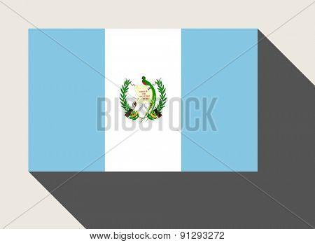 Guatemala flag in flat web design style.
