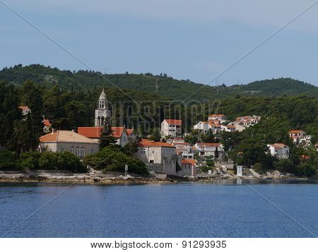 View at Korcula city in Croatia
