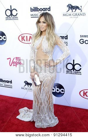 LAS VEGAS - MAY 17: Jennifer Lopez at the 2015 Billboard Music Awards at the MGM Grand Garden Arena on May 17, 2015 in Las Vegas, Nevada.
