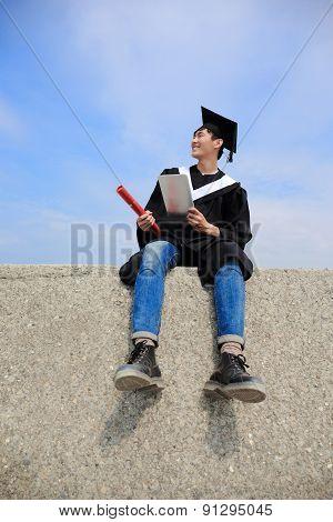 Graduate Student Use Computer