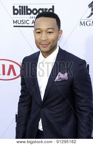 LAS VEGAS - MAY 17: John Legend at the 2015 Billboard Music Awards at the MGM Grand Garden Arena on May 17, 2015 in Las Vegas, Nevada.