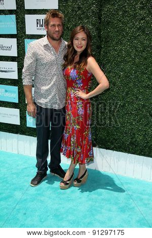 0LOS ANGELES - MAY 16:  Curtis Stone, Lindsay Price at the Super Saturday LA at the Barker Hanger on May 16, 2015 in Santa Monica, CA