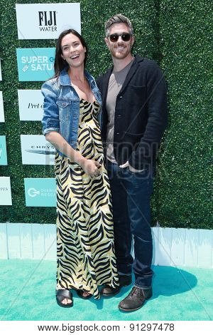 0LOS ANGELES - MAY 16:  Odette Annable, Dave Annable at the Super Saturday LA at the Barker Hanger on May 16, 2015 in Santa Monica, CA
