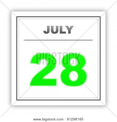 July 28. Day on the calendar. 3d
