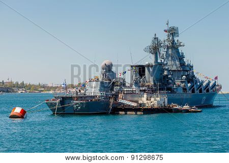Sevastopol, Crimea - May 9: Parade Of Warships