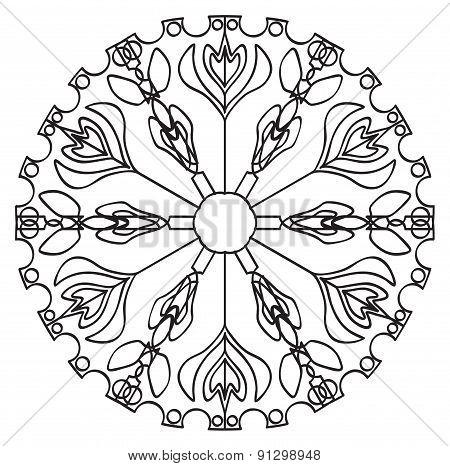 Tracery Pattern - Flower Mandala