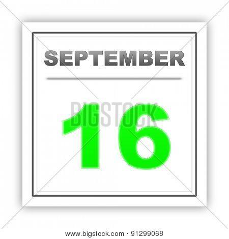 September 16. Day on the calendar. 3d