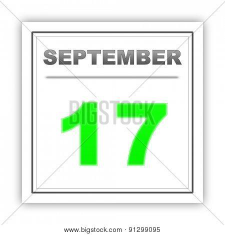 September 17. Day on the calendar. 3d