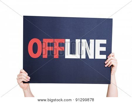 Offline card isolated on white