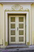 foto of stone house  - Wooden door of old stone house Tallinn Estonia - JPG