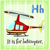 picture of helicopter  - Flashcard alphabet H is for helicopter - JPG