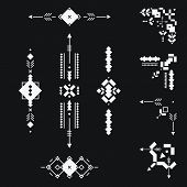 image of tribal  - Set of vector Tribal elements - JPG