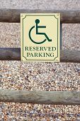 picture of disability  - reserved parking space sign for disabled drivers - JPG