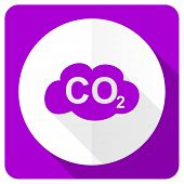 image of carbon-dioxide  - carbon dioxide pink flat icon co2 sign