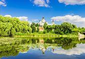 picture of water lilies  - Medieval monastery - JPG