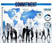 stock photo of promises  - Commitment Promise Conviction Devotion Pledge Concept - JPG