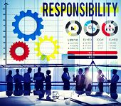picture of responsible  - Responsibility Duty Job Reliablity Trust Concept - JPG