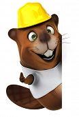 foto of beaver  - Beaver with a white tshirt - JPG