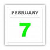 stock photo of february  - February 7 - JPG