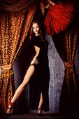 pic of cabaret  - Beautiful dancer on the stage of cabaret - JPG