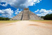 picture of pyramid  - Kukulkan Pyramid in Chichen Itza Site - JPG
