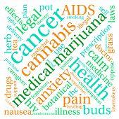 pic of medical marijuana  - Medical marijuana word cloud on a white background - JPG