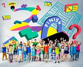 image of maze  - Kids Maze Puzzle Game Fun Solution Concept - JPG