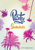 picture of beach party  - Poster to the summer party on the beach - JPG