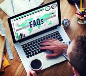 stock photo of faq  - Faqs Frequently Asked Questions Information Concept - JPG