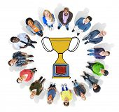 image of prize  - Motivation Trophy Success Winning Reward Prize Concept - JPG